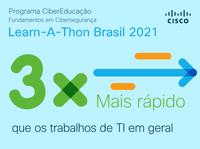 Convite para  participar da maratona de conhecimento Learn-a-Thon Brasil 2021